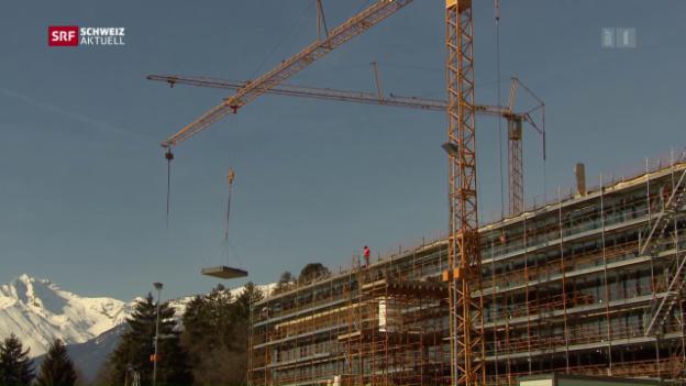Video «Walliser Baubaubranche wehrt sich» abspielen