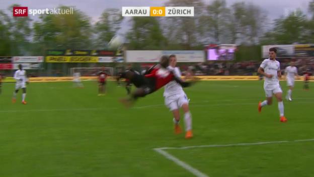 Video «Fussball: Super League, Aarau - Zürich» abspielen