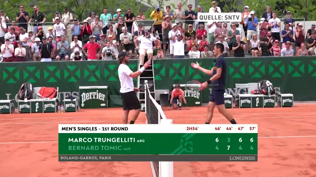 Der Matchball bei Trungelliti - Tomic