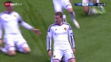 Video «Fussball: Champions League, Liverpool - Basel, Tor Fabian Frei» abspielen