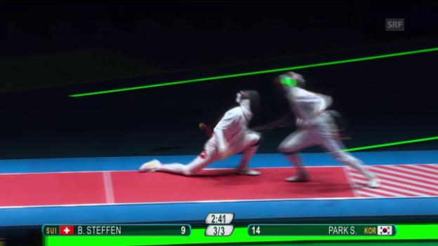 Video «Steffen unterliegt im Halbfinal» abspielen