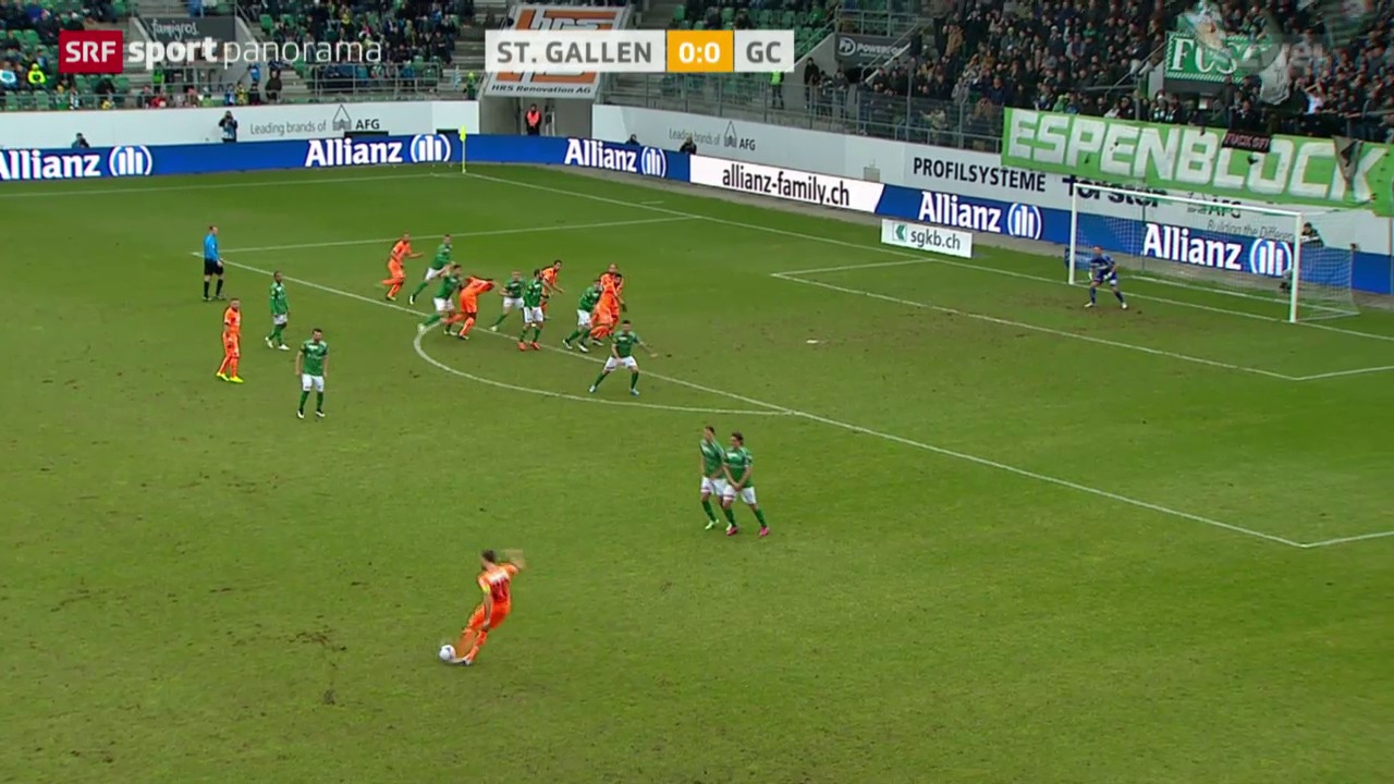 Fussball: St. Gallen - GC