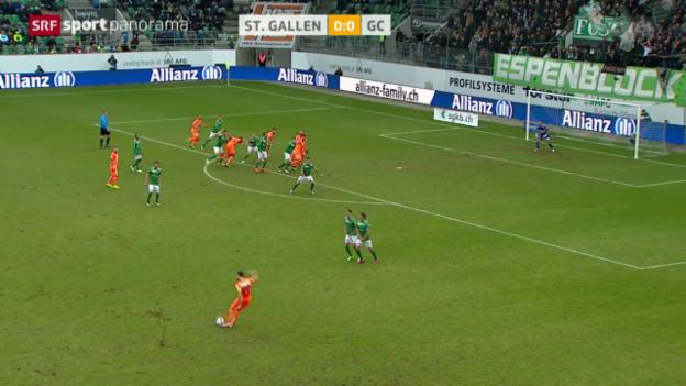 Video «Fussball: St. Gallen - GC» abspielen
