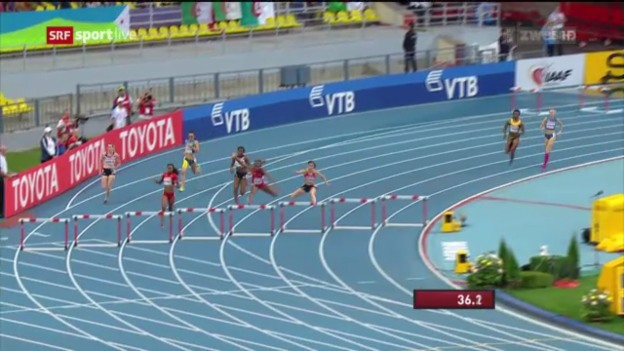 Video «LA-WM: 400 m Hürden der Frauen» abspielen