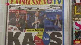 Video «Pattsituation nach Wahl in Schweden» abspielen