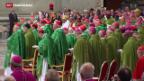 Video «Bischöfe beginnen Familiensynode im Vatikan» abspielen
