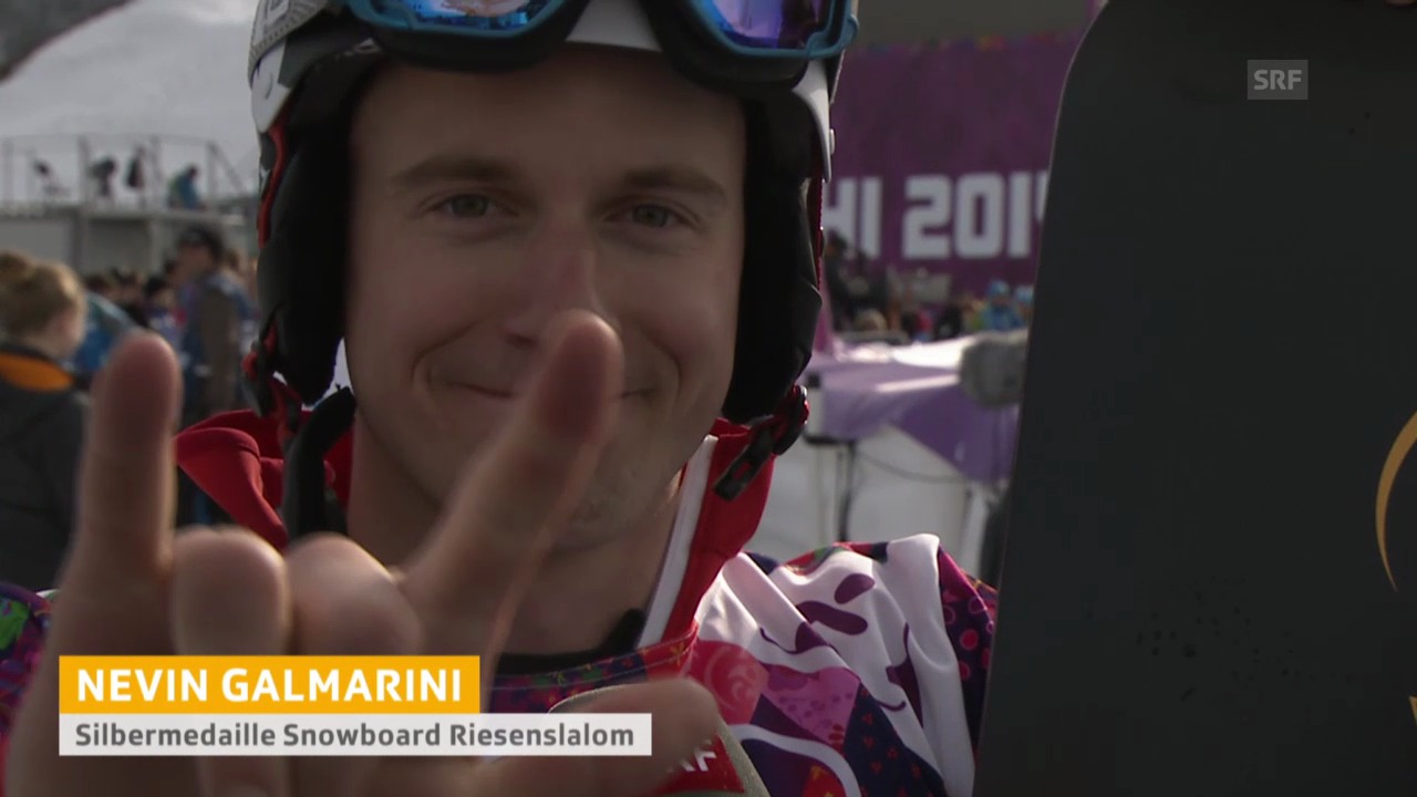 Snowboard: Parallel-RS Sotschi, Interview mit Nevin Galmarini (sotschi direkt, 19.2.14)