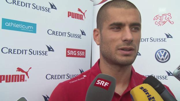 Video «Fussball: Nationalmannschaft, Eren Derdiyok über seinen Klub Kasimpasa» abspielen
