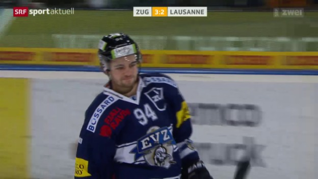 Video «Eishockey: NLA, Zug - Lausanne» abspielen