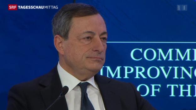 Video «Mario Draghi: «Aus der Herausforderung eine Chance machen»» abspielen