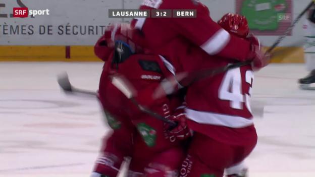 Video «Eishockey: Lausanne-Bern («sportaktuell»)» abspielen
