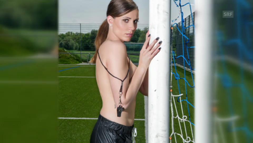 Attraktive Schiedsrichterin Aurélie Bollier