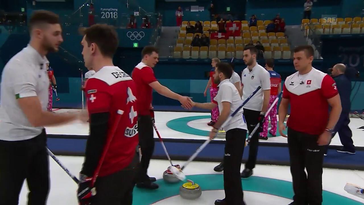 Schweizer Curler verlieren gegen Italien