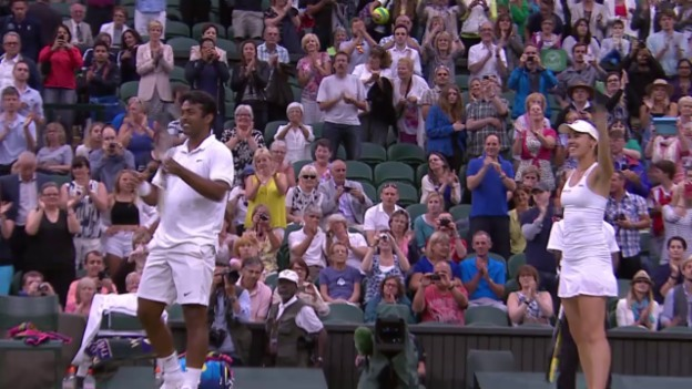 Video «Tennis: Mixed-Final Wimbledon, Matchball» abspielen