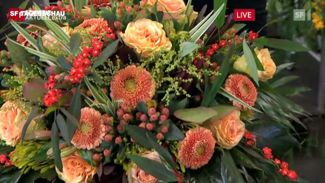 Blumenstrauss für Hansjörg Walter