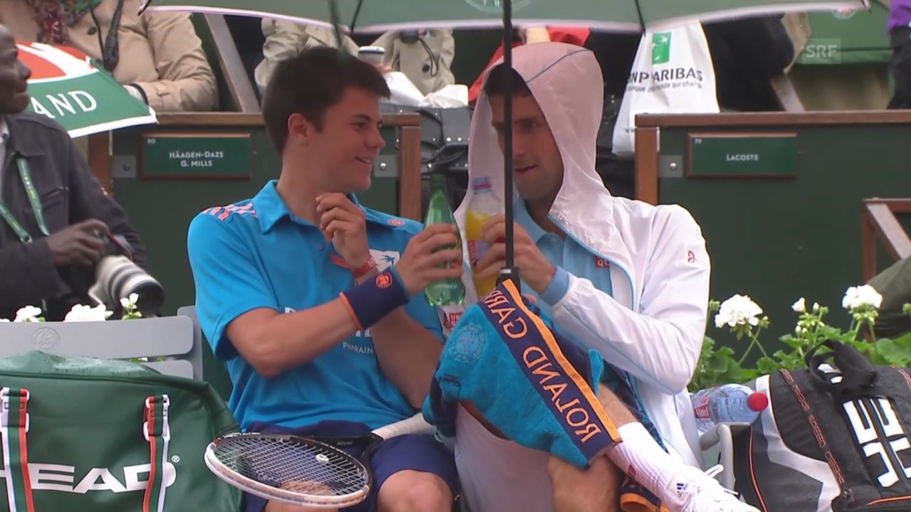 Tennis: French Open, Djokovic und der Volunteer