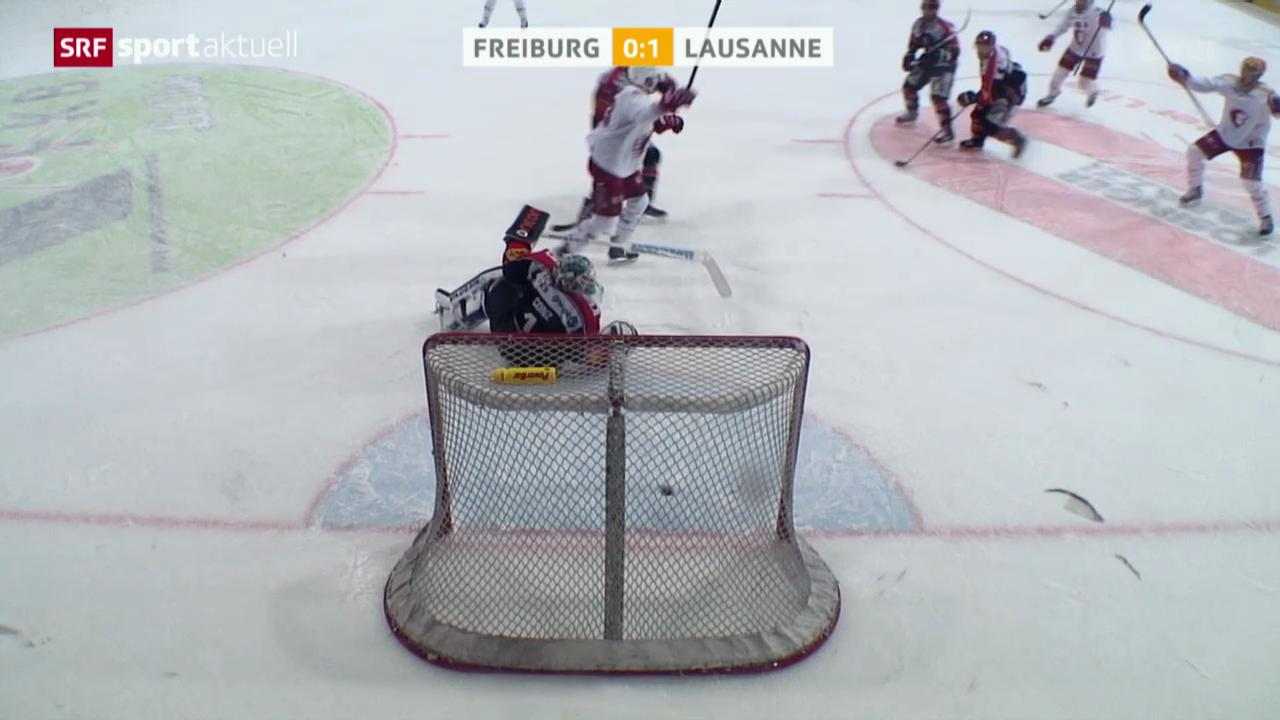Eishockey: Freiburg - Lausanne