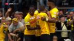 Video «YB bekundet im Stadtderby gegen Breitenrain keine Mühe» abspielen