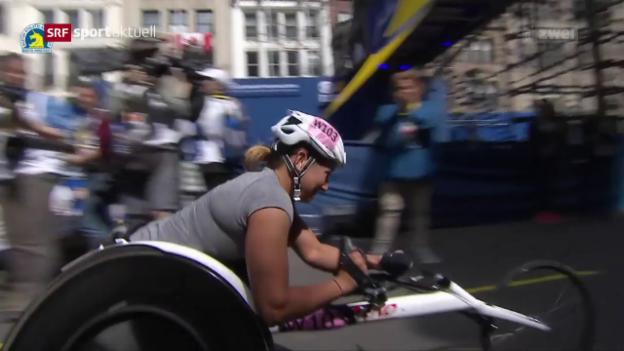 Video «Schweizer Erfolge am Boston Marathon» abspielen