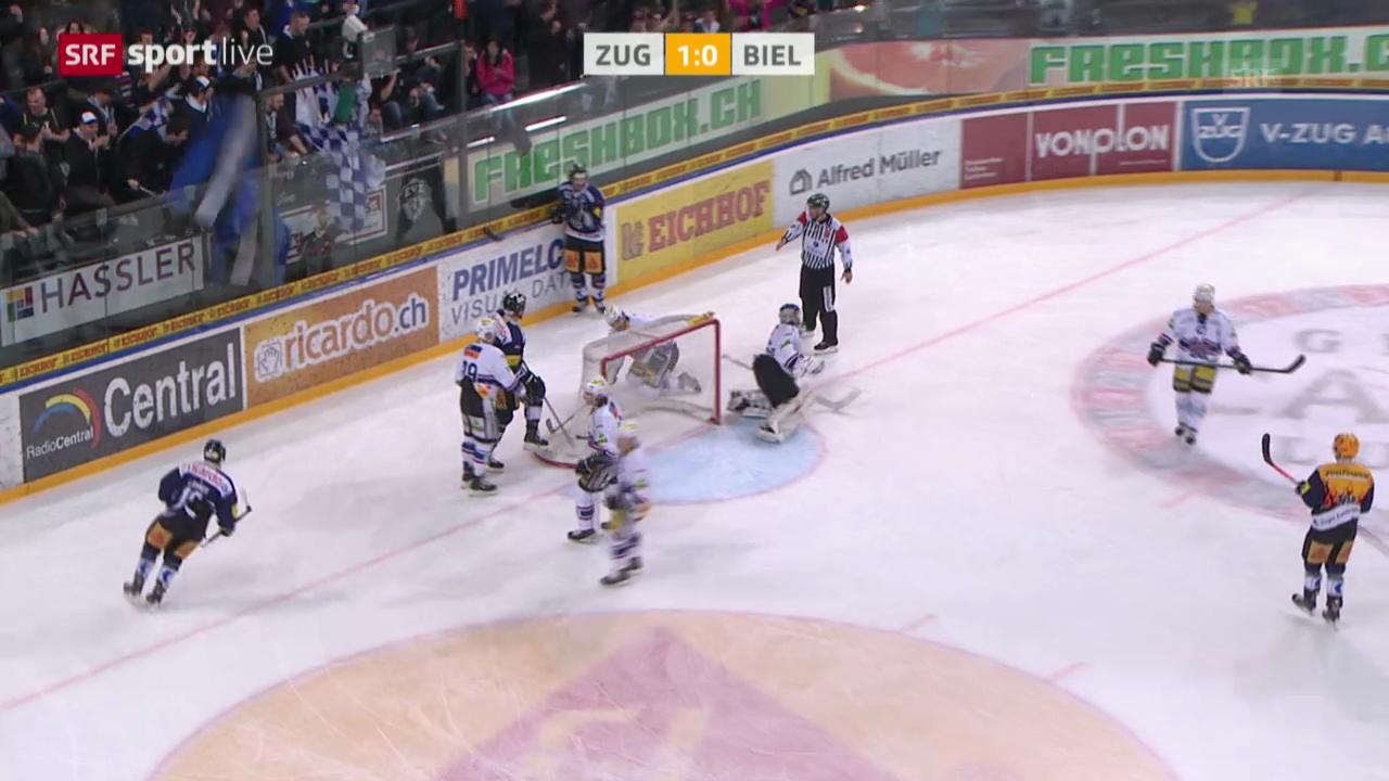 Eishockey: Zug - Biel («sportlive»)