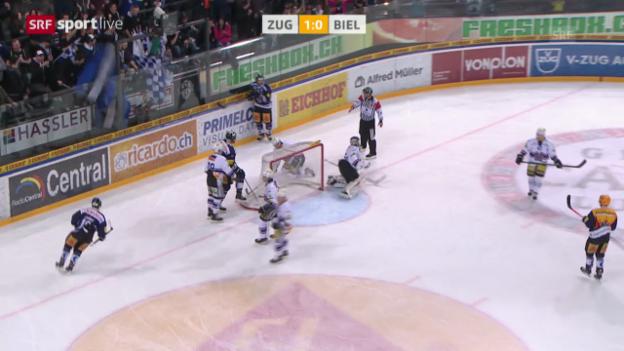 Video «Eishockey: Zug - Biel («sportlive»)» abspielen
