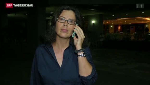 """Video «SRF-Korrespondentin Bossart: """"Es fehlt an Trinkwasser und Nahrung""""» abspielen"""