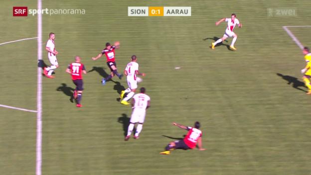 Video «Fussball: Super League, Sion - Aarau» abspielen