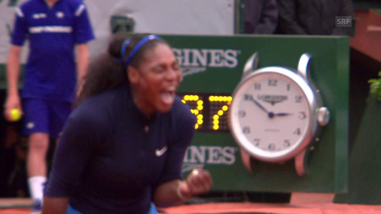 Live-Highlights: Williams' Satz- und Matchball