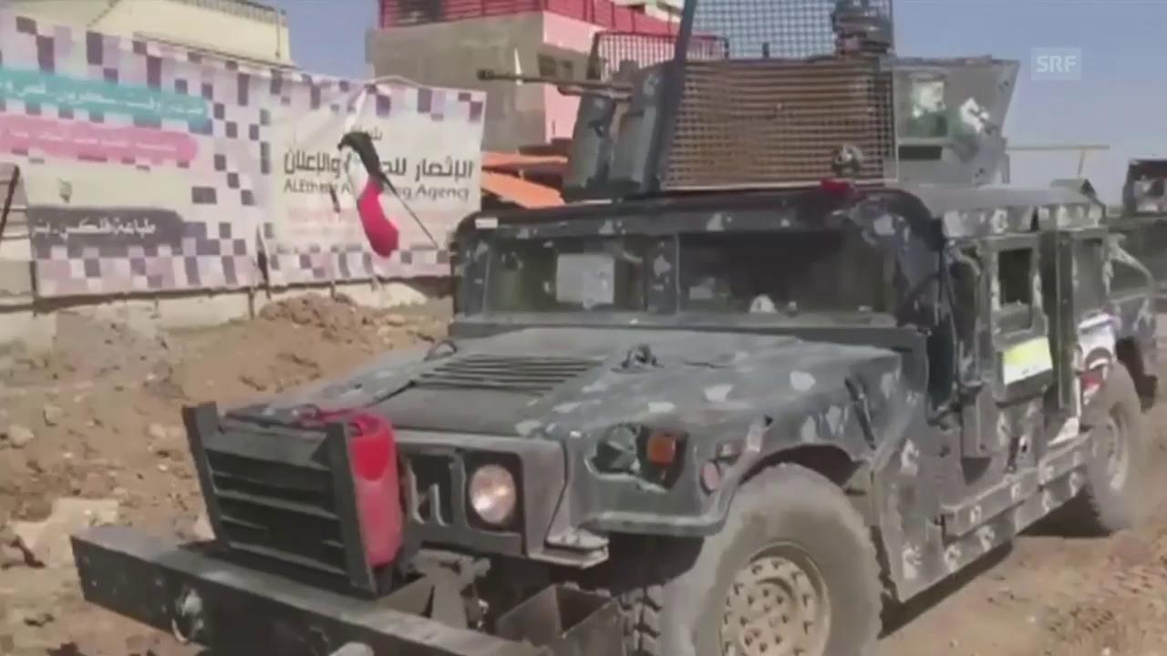 Armee rückt in West-Mossul vor (Originalton)