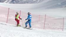 Video «Skicross: Stockschlag gegen Patrick Gasser» abspielen