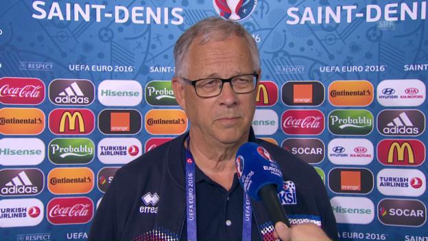 Video «Das sagt Lars Lägerbäck vor dem Frankreich-Spiel (engl.)» abspielen