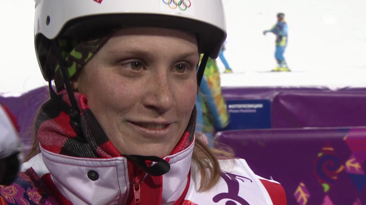 Ski Freestyle: Springen Frauen, Interview mit Tanja Schärer (sotschi direkt, 14.02.2014)