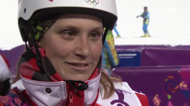 Video «Ski Freestyle: Springen Frauen, Interview mit Tanja Schärer (sotschi direkt, 14.02.2014)» abspielen