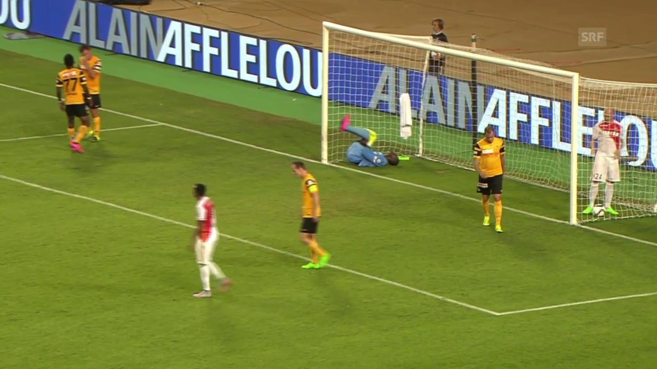 Fussball, CL-Quali, Monaco-YB, 2:0 Kurzawa