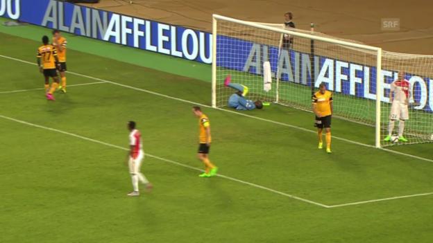 Video «Fussball, CL-Quali, Monaco-YB, 2:0 Kurzawa» abspielen