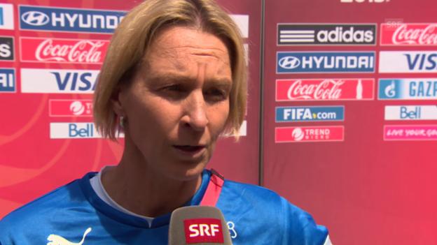 Video «Fussball: Frauen-WM, Interview mit Martina Voss-Tecklenburg» abspielen