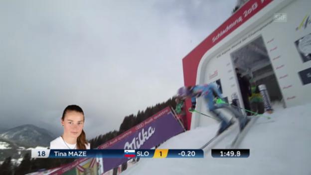 Video «Ski-WM: Der Kombi-Slalom von Tina Maze» abspielen