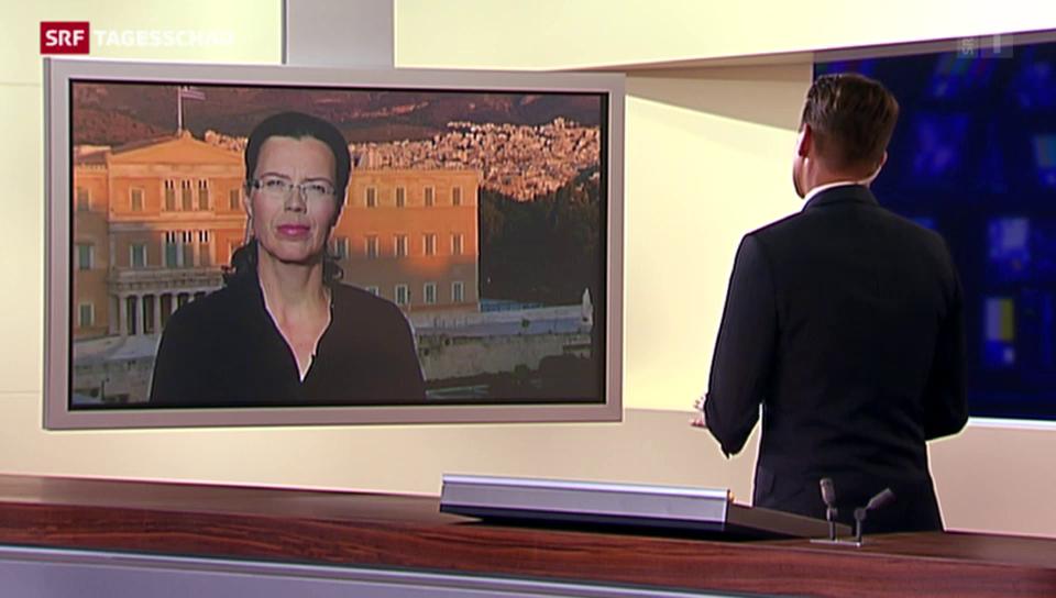 Einschätzung von SRF-Korrespondentin Ruth Bosshart in Athen