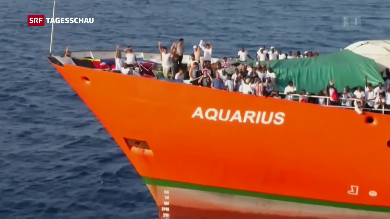 Kritik an Italien wegen Flüchtlingsschiff «Aquarius»