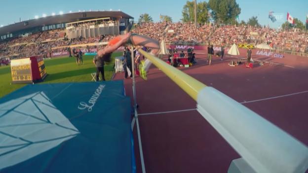 Video «Leichtathletik: Athletissima Lausanne, Hochsprung Frauen, Chicherowa, 2,03 Meter» abspielen