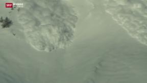 Video «Spektakuläres Experiment in Walliser Lawinengebiet» abspielen