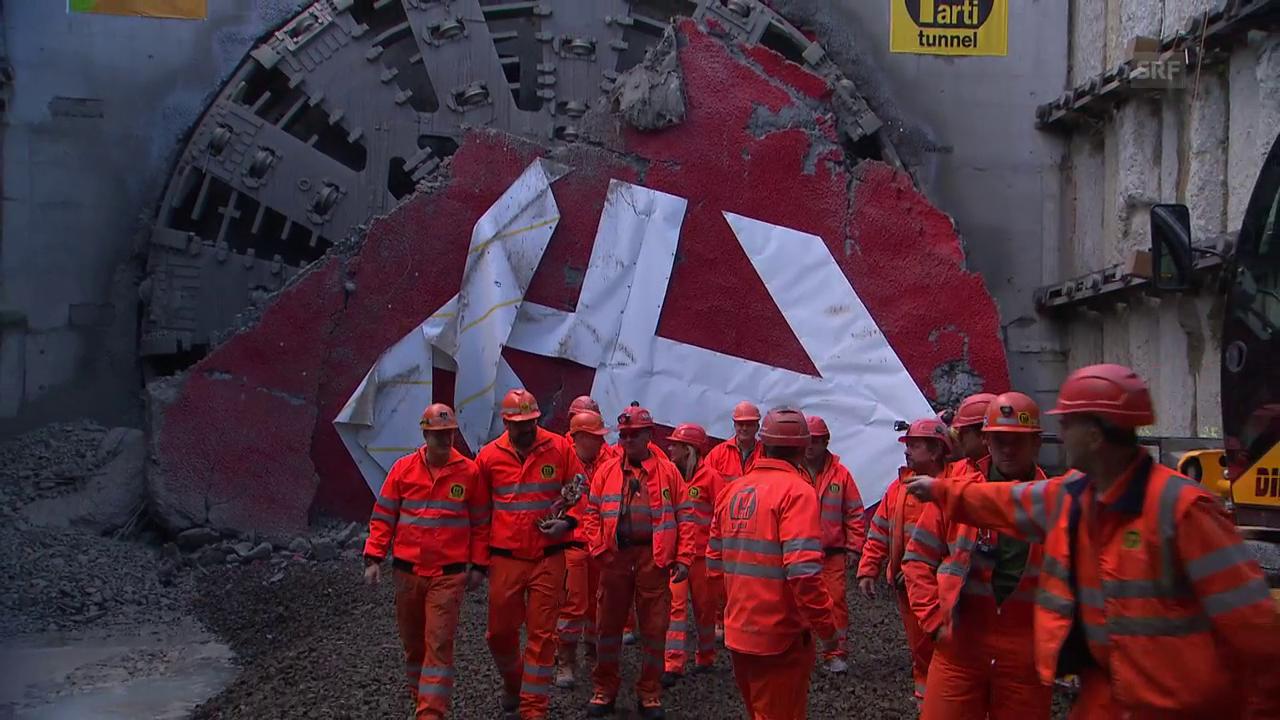 Der Eppenbergtunnel ist durchstochen