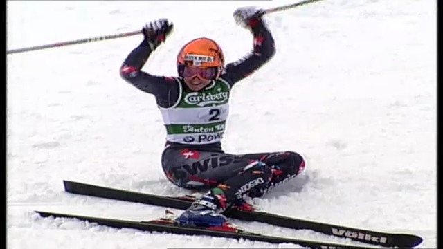 Ski-WM 2001: Nef holt in St. Anton Gold im Riesenslalom