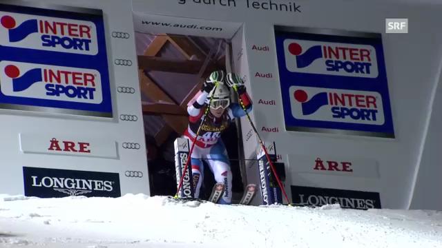 Ski alpin: 2. Lauf von Fabienne Suter beim Riesenslalom in Are