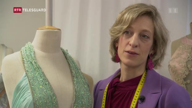 Laschar ir video «Manuela Gobetti-Lutz creescha ils vestgis per las finalistas da «Miss Svizra»»