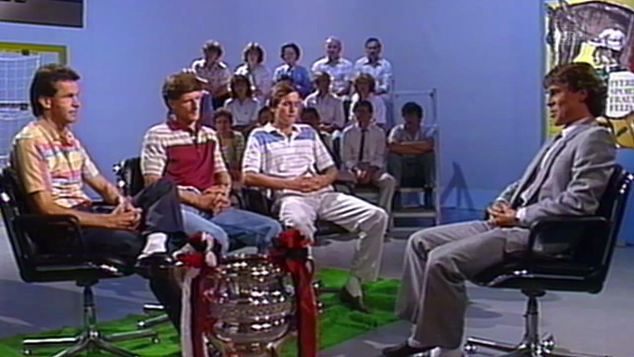 1985: Ottmar Hitzfeld zu Gast im «sportpanorama»