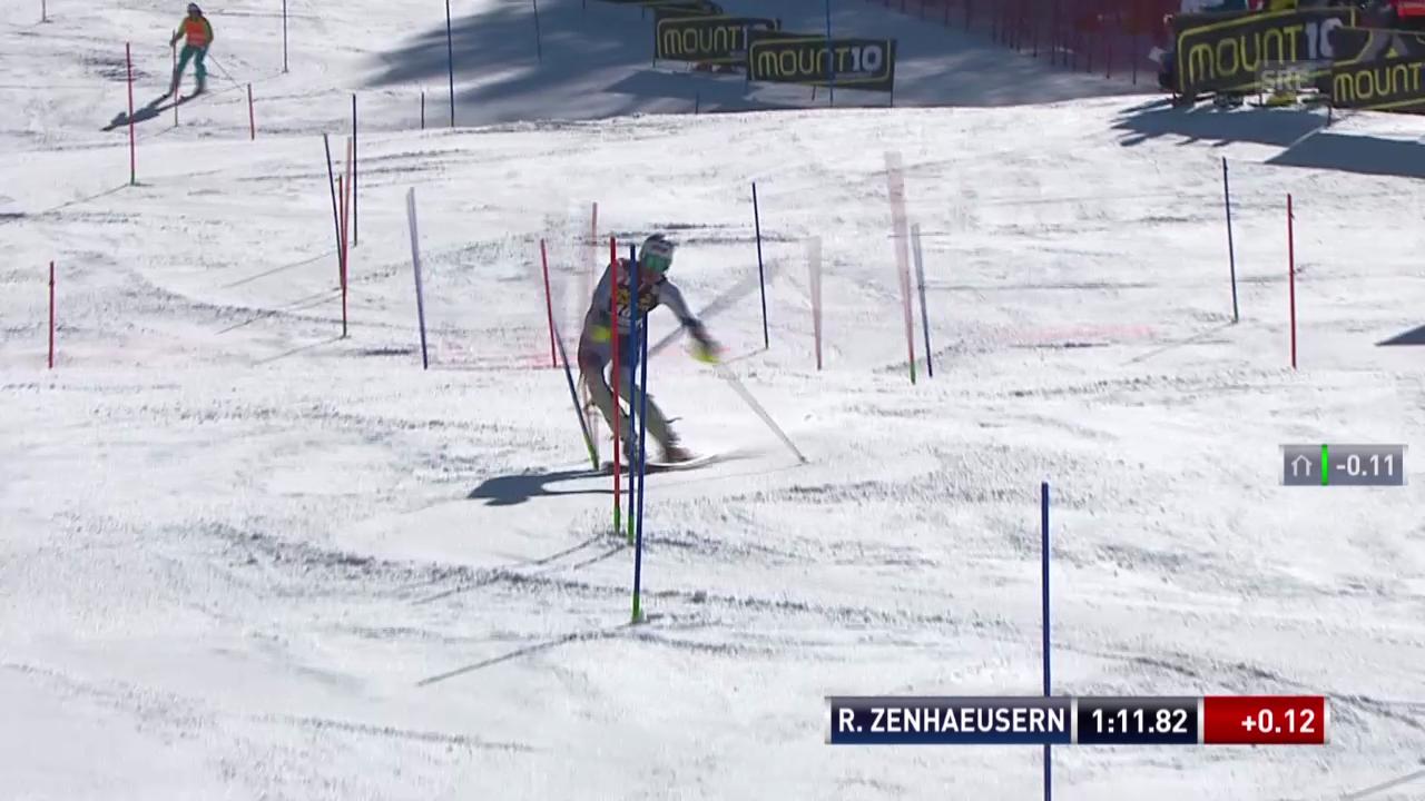 Ski Alpin: Slalom Kranjska Gora, 2. Lauf Ramon Zenhäusern («sportlive», 9.3.2014)