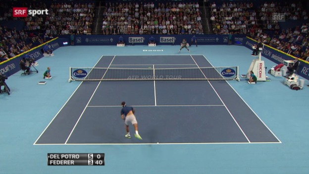 Video «Swiss Indoors: Final Federer - Del Potro («sportpanorama»)» abspielen