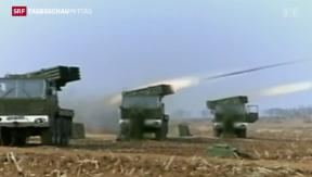 Video «Nordkorea feuert Raketen ab» abspielen