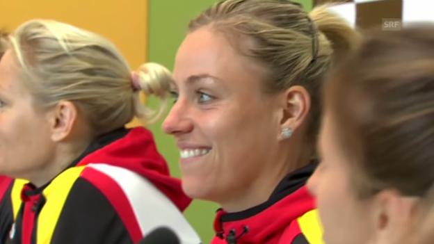 Video «Kerber-Hype vor dem Fed-Cup-Duell gegen die Schweiz» abspielen